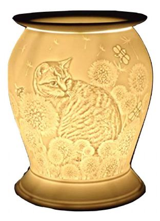 Cello Barrel Electric Wax Melt Burner / Warmer - Cat